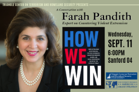Farah Pandith Sept. 11 in Sanford 04 at 6pm