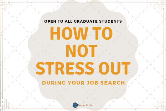 how to not stress out during your job search flyer
