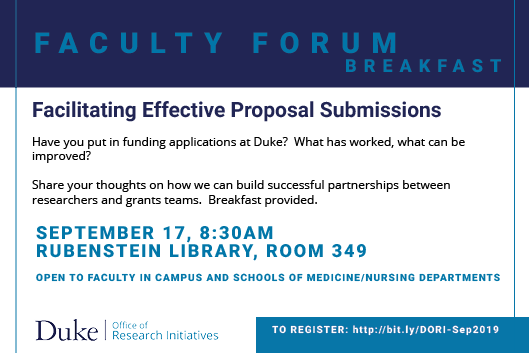 Facilitating Effective Proposal Submissions - Faculty Forum