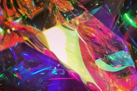multi-colored cellophane paper