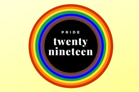 Pride Twenty Nineteen. Philly Flag Circle Design.