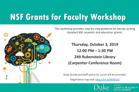 NSF Grants for Faculty Workshop