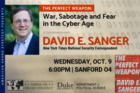 AGS Presents: David E. Sanger - Oct. 9 - 6:00pm - Sanford 04