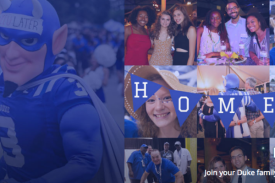 alumni and Duke Blue Devil celebrate at homecoming events