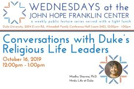 Conversations with Duke's Religious Life Leaders poster