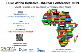 Duke Africa Initiative - DAGPSA Conference 2019