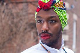 "A portrait of Brian, a queer Rwandan, from the ""Limitless Africans"" book. Shot in Montreal, Canada."