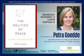 AGS Presents Petra Goedde: Nov. 13 at 6pm in Sanford 04