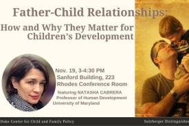 Natasha Cabrera, Father-Child Relationships