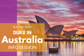 Duke in Australia Summer 2020 Info Session