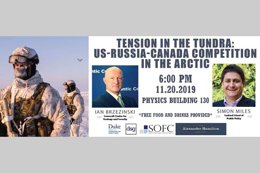 Soldiers in Artic; event speakers