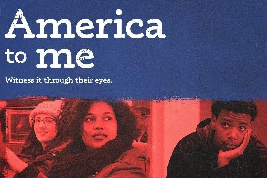 "Title card for ""America to Me"" documentary series."