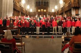 Duke Chorale Christmas concert in Duke Chapel