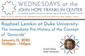 Raphael Lemkin at Duke University: The Immediate Pre-History of the Concept of Genocide