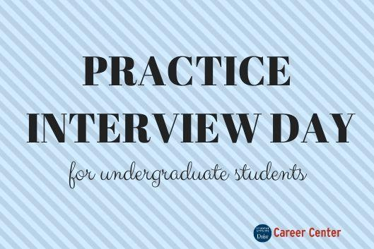 Practice interview day for undergraduate students