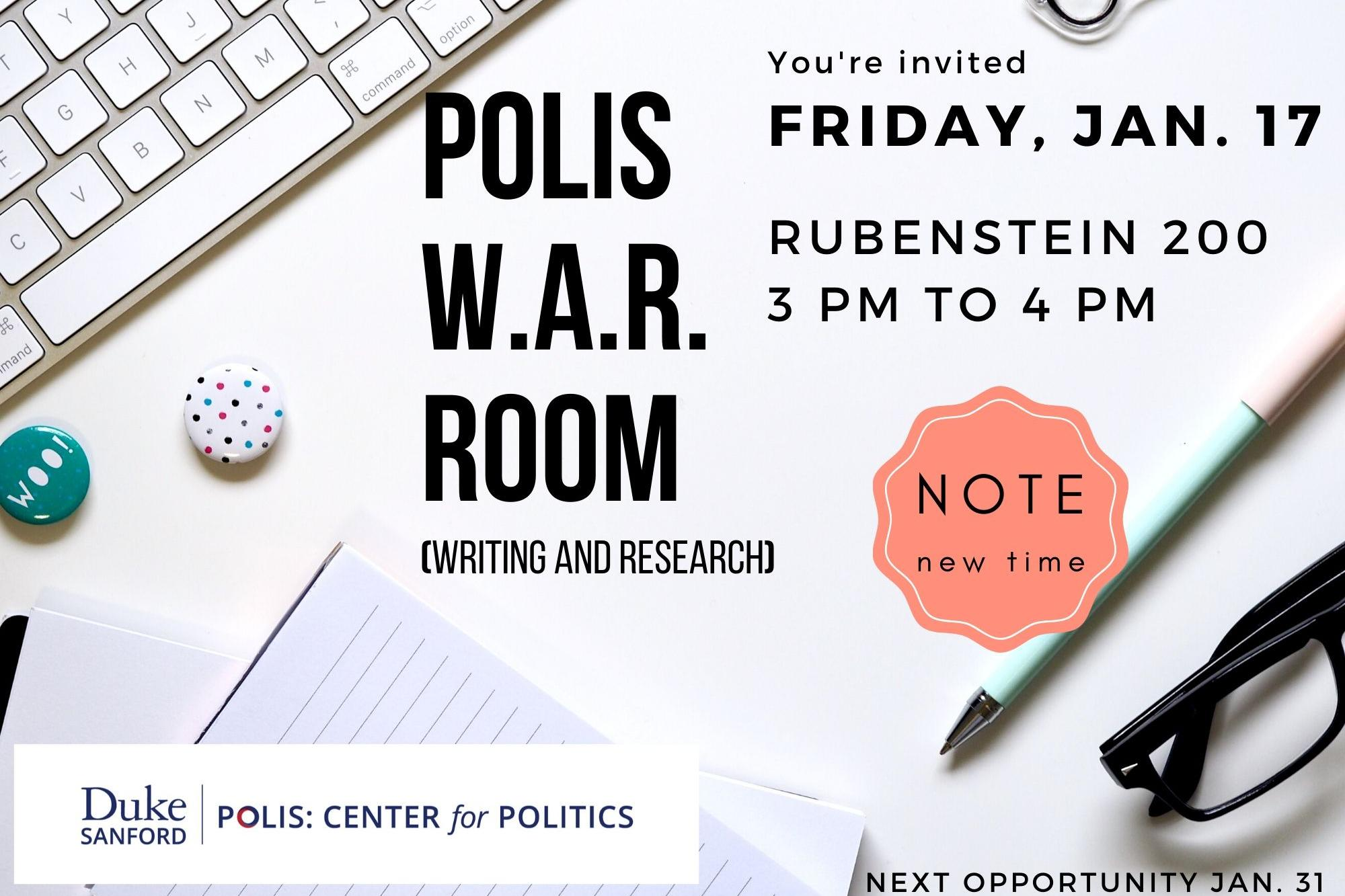 Join us in Rubenstein 200 at 3pm on Friday