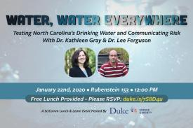 SciComm Lunch Jan. 22 - Water, Water Everywhere. Free Lunch. Rubenstein 153