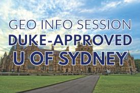 GEO Info Session - University of Sydney