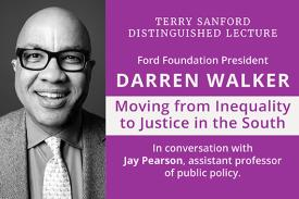 Terry Sanford Distinguished Lecture with Darren Walker, January 28, 2020