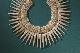 Nazca (Peru), Collar, 200¿600 CE. Shell, 15 x 18 inches (38.1 x 45.7 cm). Collection of the Nasher Museum of Art at Duke University.