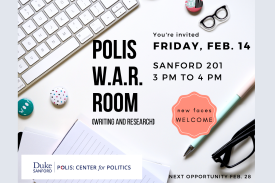 Join us in Sanford 201 at 3pm on Friday