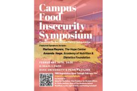 Poster for Campus Food Insecurity Symposium