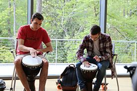 Through this experience you will begin to encounter how drumming induces relaxation and feelings of well-being, while releasing stress.   No experience necessary!  Location: Room 148 behind the Pharmacy.