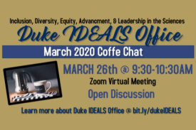 Coffee Chat March 26th @ 9:30AM
