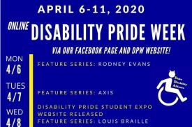 Online Disability Pride Week from April 6 - 11