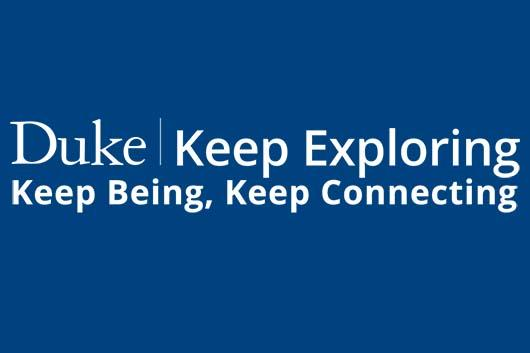 Duke Keep Exploring, Keep Being, Keep Connecting logo