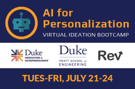 AI for personalization virtual ideation bootcamp Tuesday to Friday July 21-24