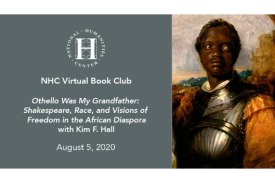 NHC Virtual Book Club flyer for Othello was My Grandfather