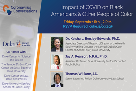 Coronavirus Conversations: Impact of COVID on Black Americans & Other People of Color
