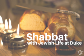 Shabbat candles, challah bread