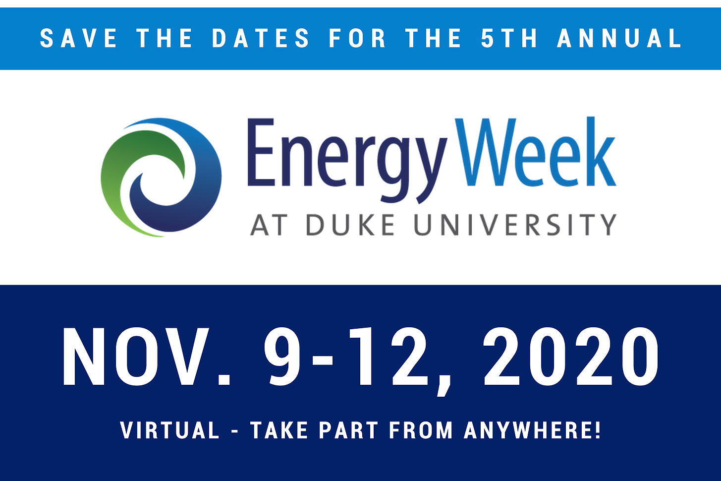Save the dates for Energy Week 2020!