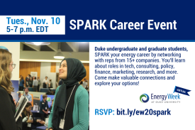 Duke students only, come network at this energy themed career fair.