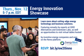 Energy Innovation Showcase is open to all - November 12th