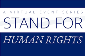 Stand For Human Rights at the Sanford School of Public Policy in a talk with David Miliband of the International Rescue Committee.