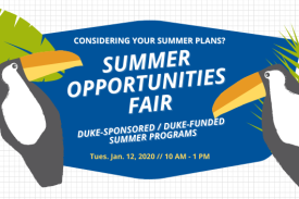Summer Opportunities Fair with toucans