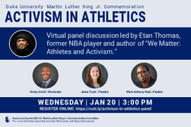 Activism in Athletics: Virtual Panel led by Etan Thomas with special guests from Duke Athletics