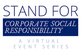 "GRAPHIC: Please join the Sanford School of Public Policy and Duke's Center for International Development on Thursday, Feb. 23 at noon to discuss corporate citizenship and how two alumni whose careers exemplify this accountability in the ""Stand For Corporate Social Responsibility."""