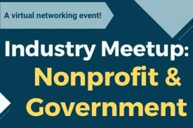 A virtual networking event! Industry Meetup Nonprofit and Government