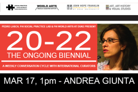 Andrea Giunta at 20-22 The Ongoing Biennial Event Poster