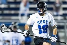 Duke defenseman in action