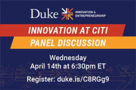Innovation at Citi Panel Discussion Wednesday April 14 6:30pm
