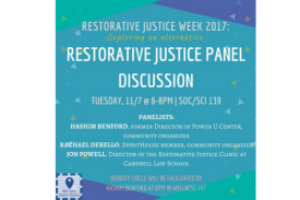 Restorative Justice Panel Discussion, We Are Here Duke, Identity Circle