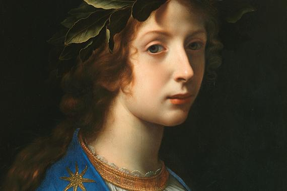 Carlo Dolci, Poetry (Poesia), late 1640s. Oil on panel, 21 1/3 x 16 3/6 inches (54 cm x 42 cm). Florence, Galleria Corsini.