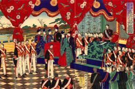 Meiji Emperor and court