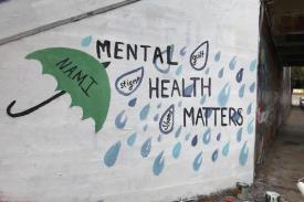 Mental Health Matters, Umbrella, Bridge Paint,