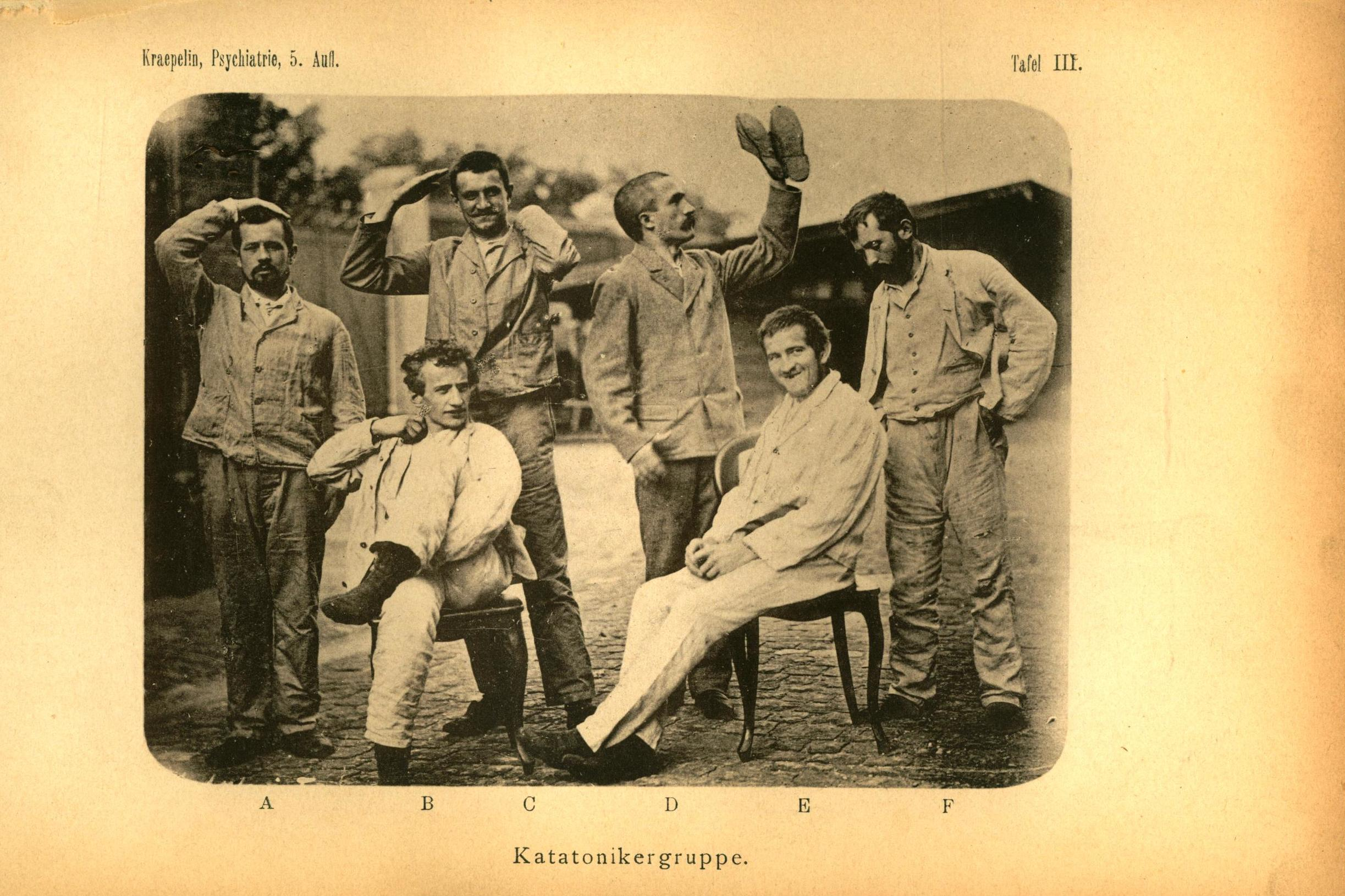 Photograph taken from German psychiatrist Emil Kraepelin¿s textbook of psychiatry (1896)